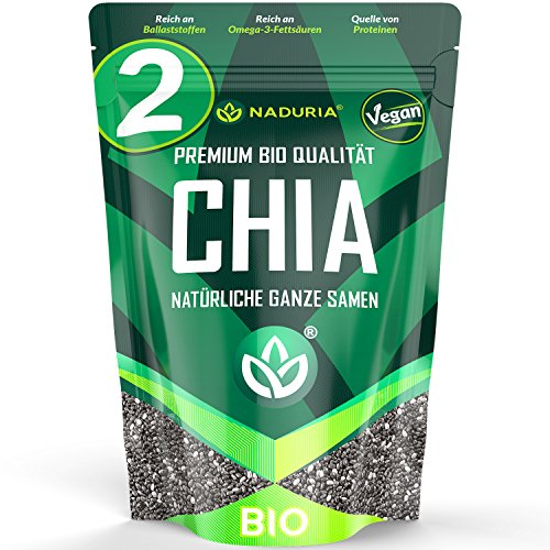 2 x 500 g 1 kg bio naduria premium chia samen. Black Bedroom Furniture Sets. Home Design Ideas