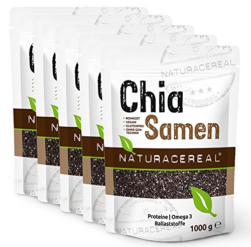 5 x 1 kg 5 kg naturacereal chia samen chiaseeds24 shop. Black Bedroom Furniture Sets. Home Design Ideas