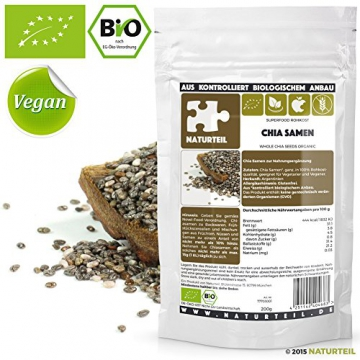 200 g naturteil bio chia samen nahrungserg nzung rohkost organic raw superfood. Black Bedroom Furniture Sets. Home Design Ideas
