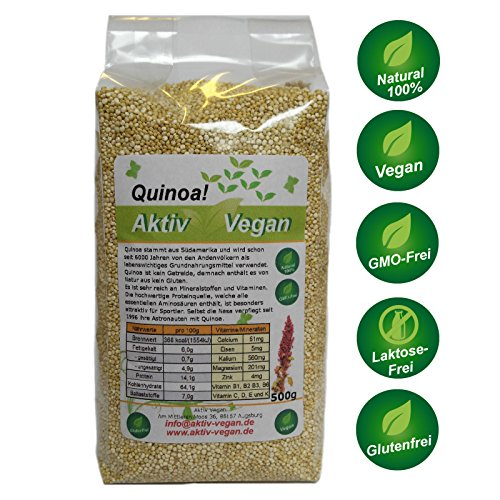 2 x 500 g 1 kg quinoa frisch vegan 100 natural glutenfrei frisch chiaseeds24 shop. Black Bedroom Furniture Sets. Home Design Ideas