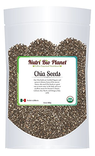 Certified Organic Bulk Chia Seeds: Raw & Non-GMO, 5 Pounds - 1
