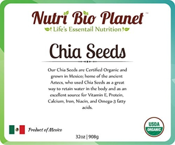 Certified Organic Bulk Chia Seeds: Raw & Non-GMO, 5 Pounds - 3