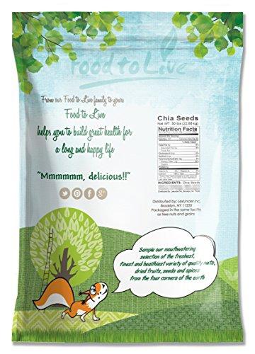 Food To Live Chia Seeds (50 Pounds) - 2