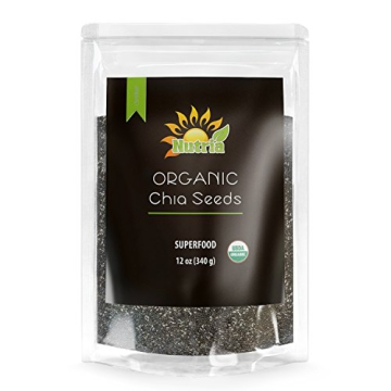 Nutria Organic Black Chia Seeds, 12-oz. Pouch | America's #1 Recommended Superfood | All Natural and USDA Organic | Vegan | Gluten-Free | Non GMO | Packed with Omega-3, Antioxidants, and Fiber - 1