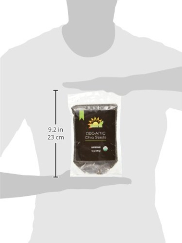 Nutria Organic Black Chia Seeds, 12-oz. Pouch | America's #1 Recommended Superfood | All Natural and USDA Organic | Vegan | Gluten-Free | Non GMO | Packed with Omega-3, Antioxidants, and Fiber - 10