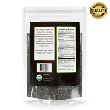 Nutria Organic Black Chia Seeds, 12-oz. Pouch | America's #1 Recommended Superfood | All Natural and USDA Organic | Vegan | Gluten-Free | Non GMO | Packed with Omega-3, Antioxidants, and Fiber - 4