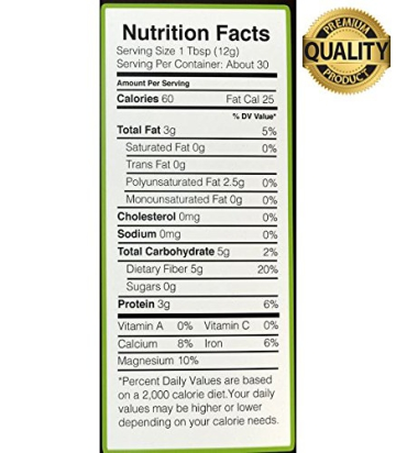 Nutria Organic Black Chia Seeds, 12-oz. Pouch | America's #1 Recommended Superfood | All Natural and USDA Organic | Vegan | Gluten-Free | Non GMO | Packed with Omega-3, Antioxidants, and Fiber - 8